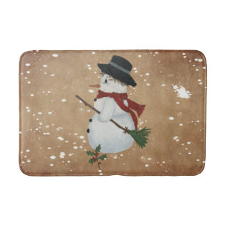 Country Snowman Bath Mat