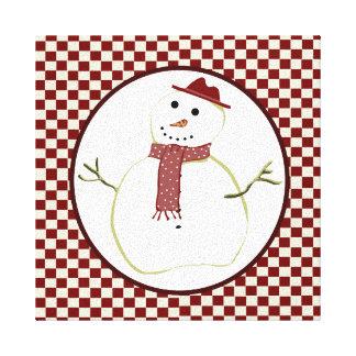 Country Snowman Canvas Print