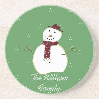 Country Snowman Coaster