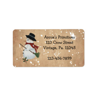 Country Snowman Label