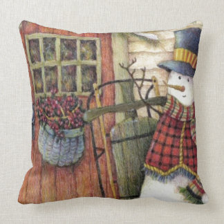 Country Snowman Pillow