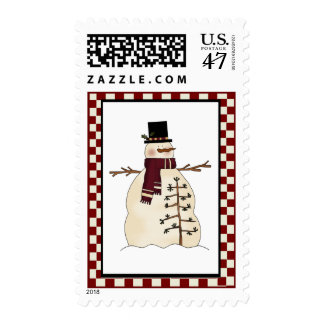 Country Snowman Stamp