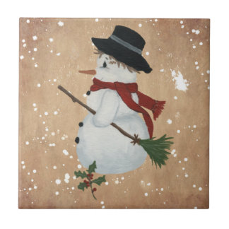 Country Snowman Tile
