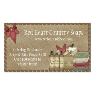Country Soaps & Bath Products D2 Business Cards