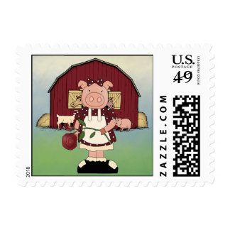 Country Sow Pig Postage