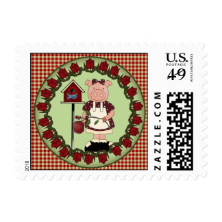 Country Sow Piggy Postage