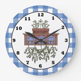 Country E Cartoon Kitchen Clock