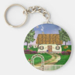 Country Spring Cottage Keychain