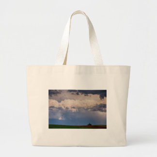 Country Spring Storm Large Tote Bag