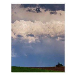 Country Spring Storm Letterhead