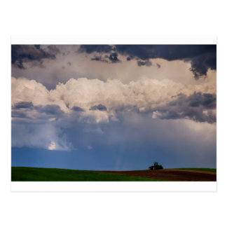 Country Spring Storm Postcard