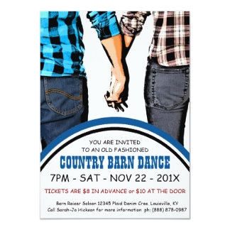 Country Square Dance Advertisement Card