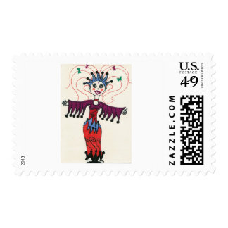 Country star elf princess stamp