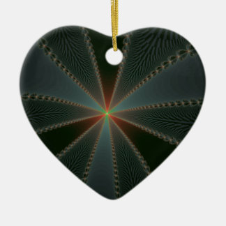 Country Star Double-Sided Heart Ceramic Christmas Ornament