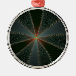 Country Star Round Metal Christmas Ornament