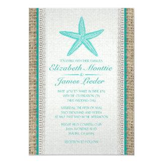 Country Starfish Wedding Invitations Personalized Invite