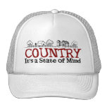 Country State of Mind Trucker Hats