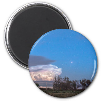 Country Storm Gone By 2 Inch Round Magnet