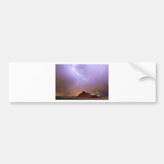 Country Stormy Night Bumper Sticker