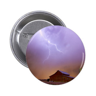 Country Stormy Night Pinback Button