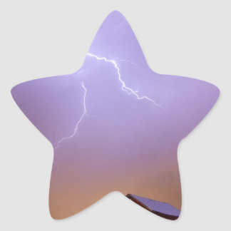 Country Stormy Night Star Sticker
