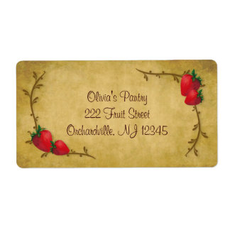 Country Strawberries Label Shipping Label