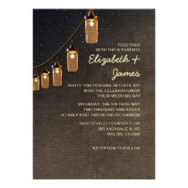 Country String Lights Wedding Invitations Invitations