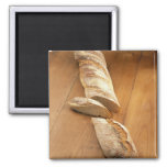 Country-style baguette For use in USA only.) Fridge Magnets