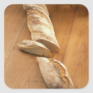 Country-style baguette For use in USA only.) Square Sticker