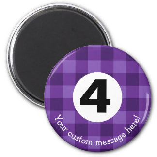 Country Style Checkered Billiards Four Ball Magnet