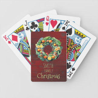 Country-style Family Christmas Bicycle Playing Cards