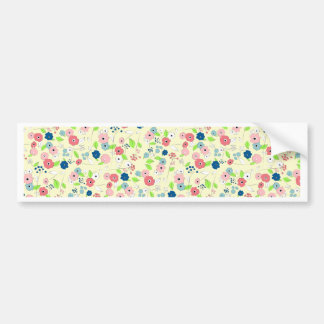 Country style floral pattern bumper sticker