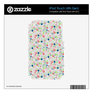 Country style floral pattern iPod touch 4G decals
