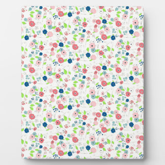 Country style floral pattern plaque