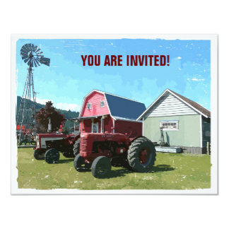 Country Style Get Together 4.25x5.5 Paper Invitation Card