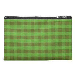 Country-style Green Check Accessories Bag
