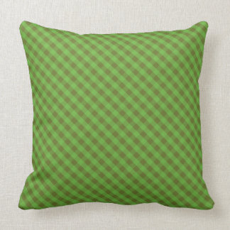 Country-style Green Check Gingham Cushion, Pillow
