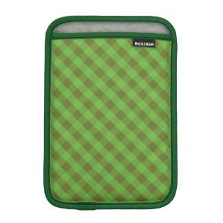 Country-style Green Check Gingham iPad Mini Sleeve