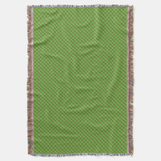 Country-style Green Check Gingham Throw Blanket