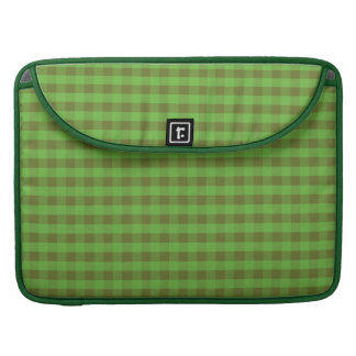 Country-style Green Gingham MacBook Pro Sleeve