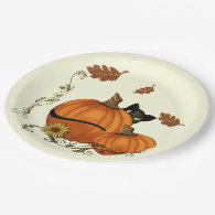 Country Style Halloween 9 Inch Paper Plate