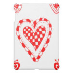 Country style heart, small heart corners design iPad mini cover