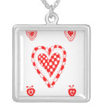 Country style heart, small heart corners design necklace
