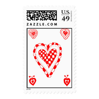 Country style heart, small heart corners design stamp