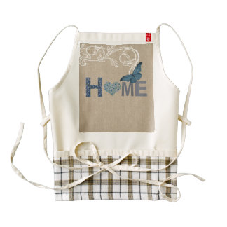 Country Style Home Collage Zazzle HEART Apron