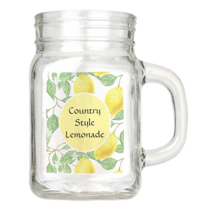 Country Style Lemonade Recipe Mason Jar Zazzle Com
