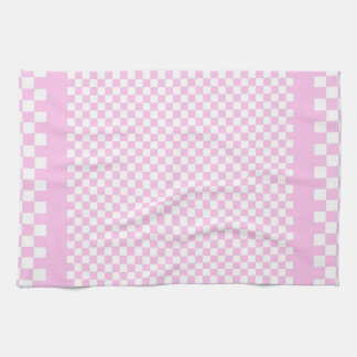 Country Style Pink White Check Kitchen Towel
