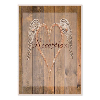 Country Style Rustic Angel Wings Wedding Large Business Cards (Pack Of 100)