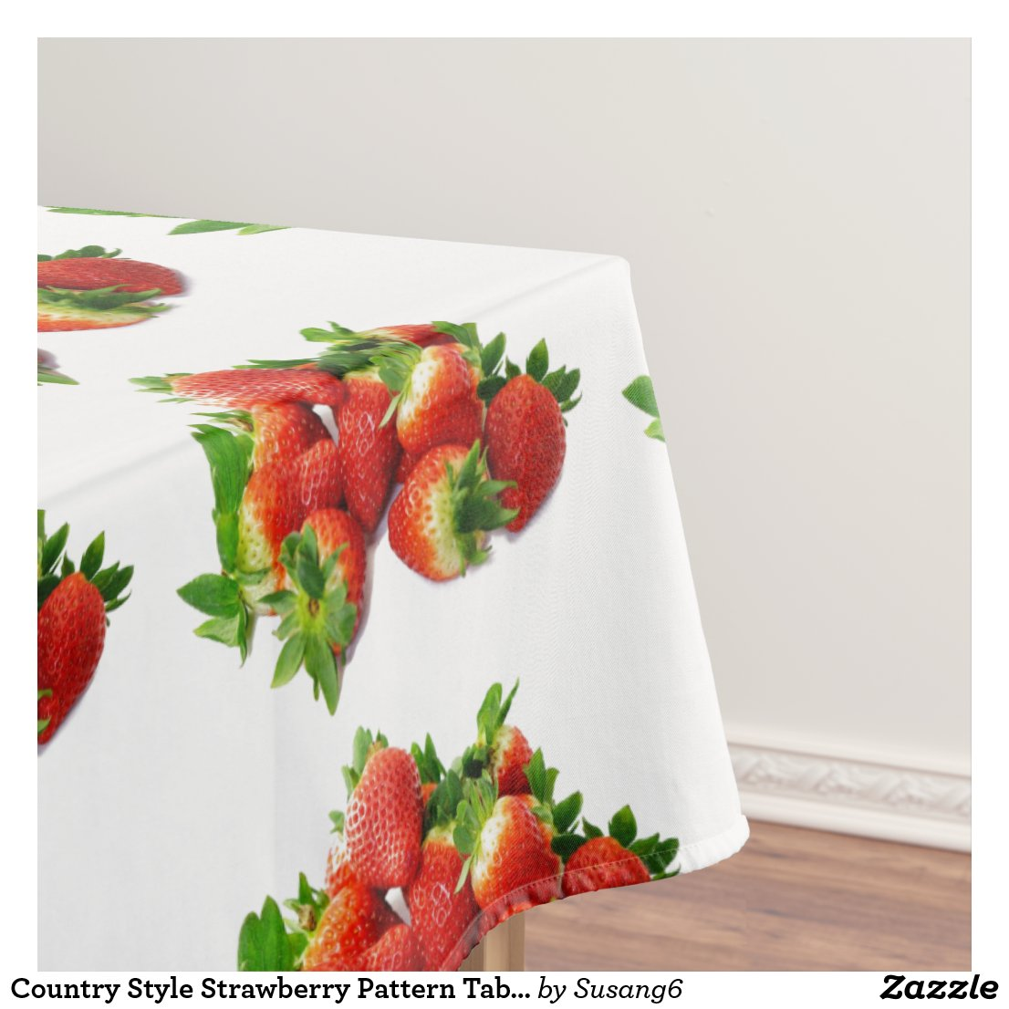 Country Style Strawberry Pattern Table Cloth