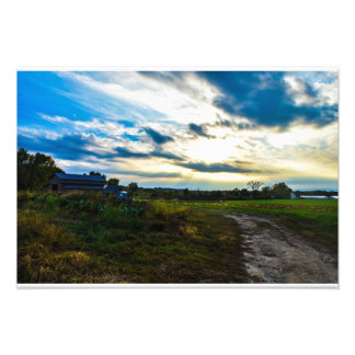 Country Style Sunny Side Barn Landscape Photograph